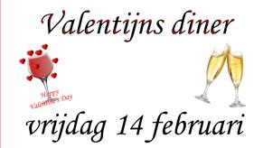 Valentijns Diner was een groot succes.