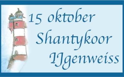 Op vrijdagavond 15 oktober kun je genieten van al die o zo gezellige zeemansliedjes.